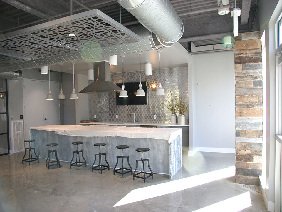 Allstate Interiors, Fred Soward, Poured Cement flooring