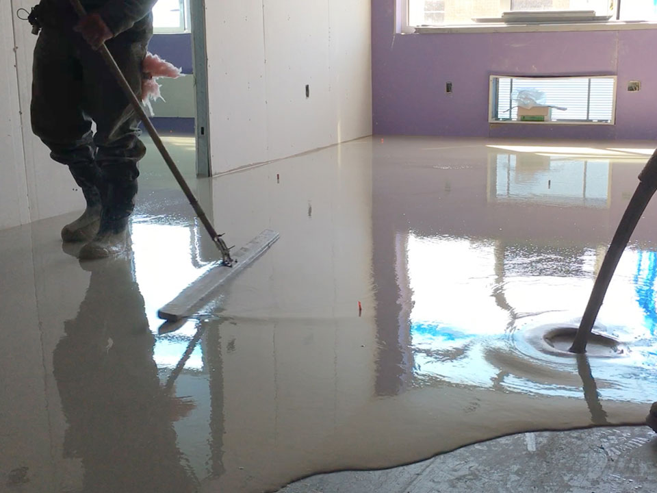 Poured gypsum flooring allstate interiors ny nj
